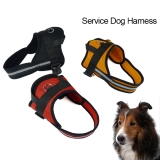 Large Dog Reflective Nylon  Mesh Padded Harness in 3 Colors and 4 sizes.